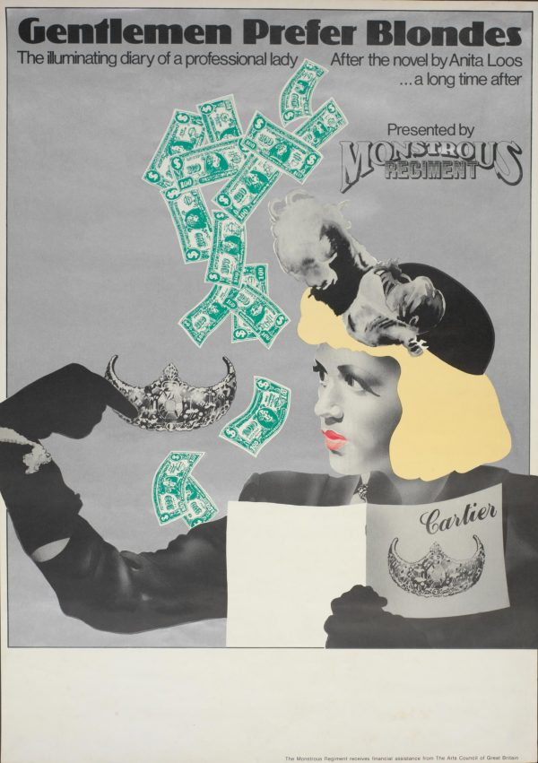 Gentlemen Prefer Blondes I 1979 Poster - Monstrous Regiment